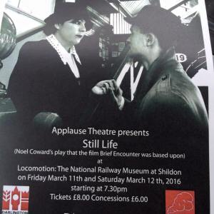Still Life by Noel Coward at Locomotion: The National Railway Museum at Sheldon. Friday 11th March and Saturday 12th March at 7pm (Tickets £8)