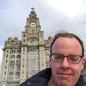 Selfie outside the Liver Building